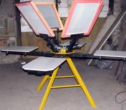 Ручной плоскопечатный станок карусельного типа 4х4 (4 стола 4 цвета)
