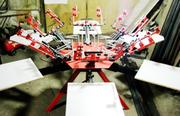 Ручной плоскопечатный станок карусельного типа 6х6 (6 столов 6 цветов)